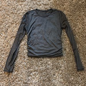 Lululemon Cropped Ruched Long Sleeve